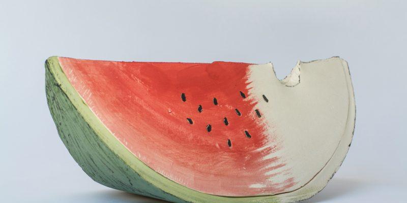 Κατακόκκινο ανοιχτό καρπούζι